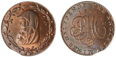 Parys Mine Company, Copper Halfpenny, 1788 (D&H Anglesey 309)