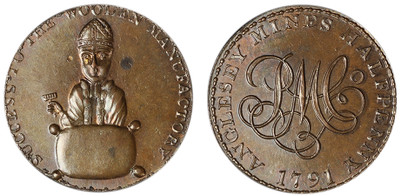 Anglesey, Copper Halfpenny Mule, (D&H Anglesey 435)