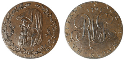 North Wales, Copper Halfpenny, 1793 (D&H North Wales 1c)