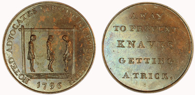 Peter Kempson, copper halfpenny, 1796 (D&H Middlesex 837)