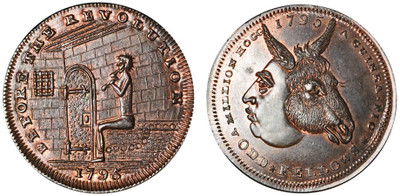Thomas Spence, Copper Halfpenny, 1795 (D&H Middlesex 790b)