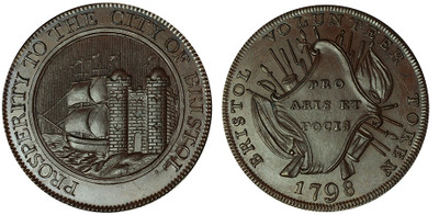 Bristol Copper Halfpenny, 1798 (D&H Somersetshire 92)
