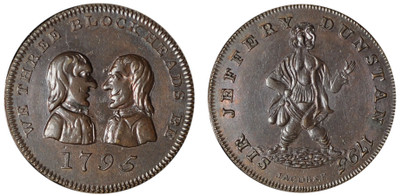 Matthew Denton, Copper Farthing, 1795 (D&H Middlesex 1057)