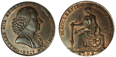 Roe & Company, Commercial Halfpenny, 1792 (D&H Cheshire 57)