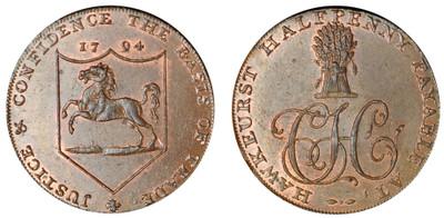 Charles Hider, Commercial Halfpenny, 1794 (D&H Kent 30)