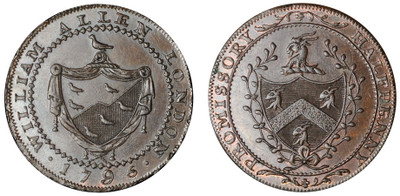 William Allen, Commercial Halfpenny, 1795 (D&H Middlesex 246)