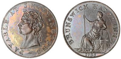 John Kilvington, Commercial Halfpenny, 1795 (D&H Middlesex 346)