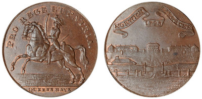 John Rooks, Commercial Halfpenny, 1793 (D&H Norfolk 46a)