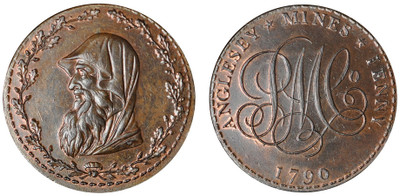 Parys Mine Company, Copper 1p, 1790 (D&H Anglesey 252)