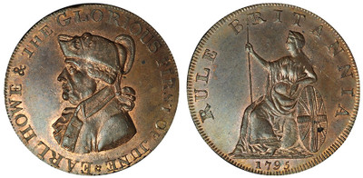 Peter Kempson, Halfpenny Mule, 1795 (D&H Hampshire 23)