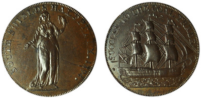 Peter Kempson, South Shields Copper Halfpenny, 1794 (D&H Durham 4)