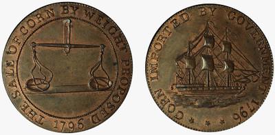Jelly & Arnott, Badminton Halfpenny, 1796 (D&H Gloucestershire 35)