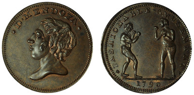 Thomas Spence, Copper Halfpenny, 1790 (D&H Middlesex 785)