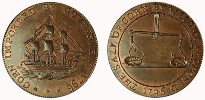 Jelly & Arnott, Badminton Halfpenny, 1796 (D&H Gloucestershire 35 )