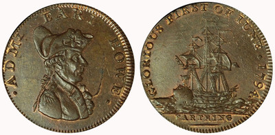 Earl Howe, Naval Farthing (D&H Hampshire 102a)