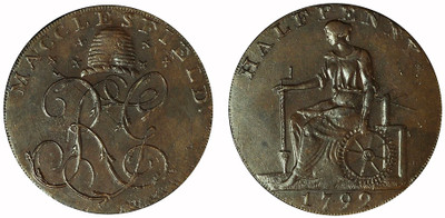 Imitation Macclesfield Halfpenny, 1792 (D&H Cheshire 72c)