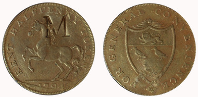 William Mynn, Copper Halfpenny, 1794 (D&H Kent 29)