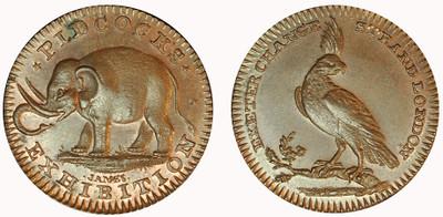Gilbert Pidcock, Copper Farthing  (D&H Middlesex 1067a)