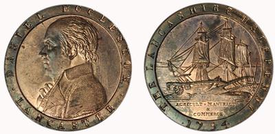 Daniel Eccleston, Commercial Halfpenny, 1794  (D&H Lancashire 58)