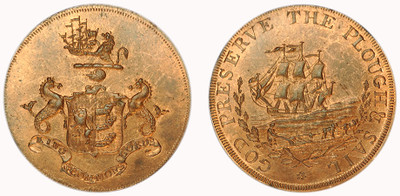 Robert Manning, Copper Halfpenny  (D&H Suffolk 34)