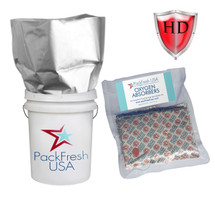 5 Gallon Mylar premium heavy duty bags with 2000cc oxygen absorbers
