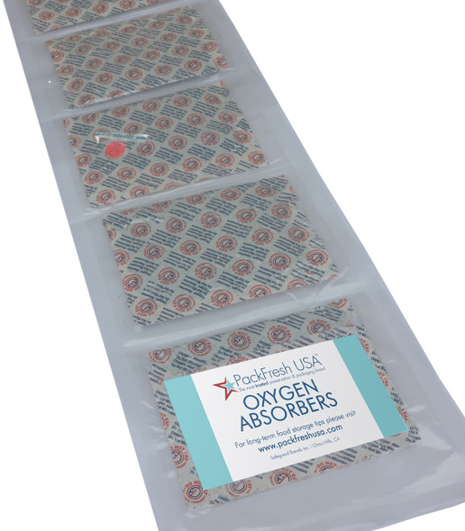 PackFresh USA 2000cc individually sealed oxygen absorbers for mylar bags 5 gallons for food preservation long term storage.