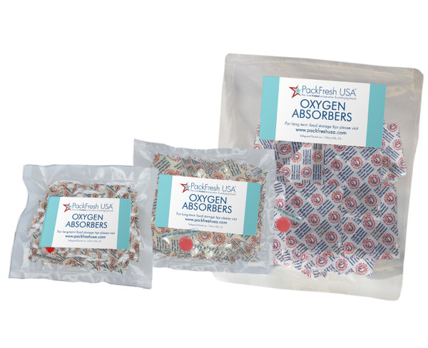 Oxygen Absorber Combo for Mason Jars (75) 50cc, 100cc, 300cc