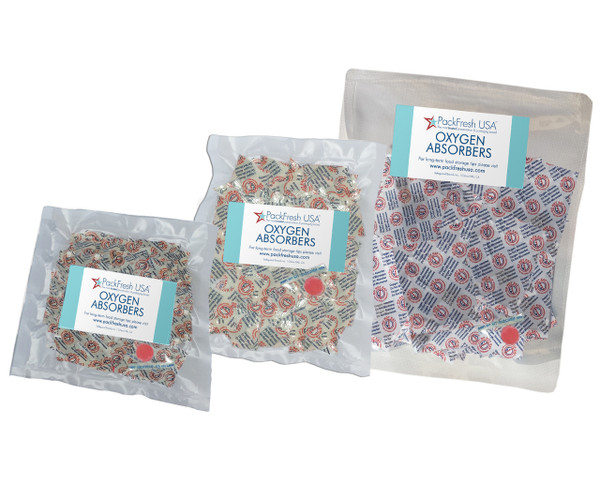 Oxygen Absorber Combo for Mason Jars (150) 50cc, 100cc, 300cc
