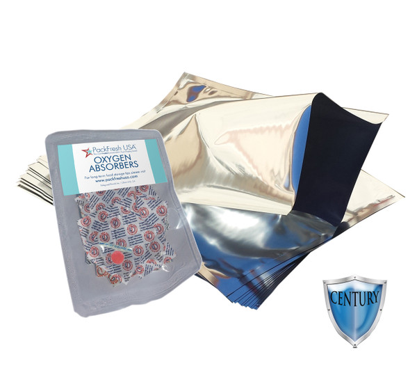 (10) Gallon 5 Mil Heavy Duty mylar bags with 500cc oxygen absorbers