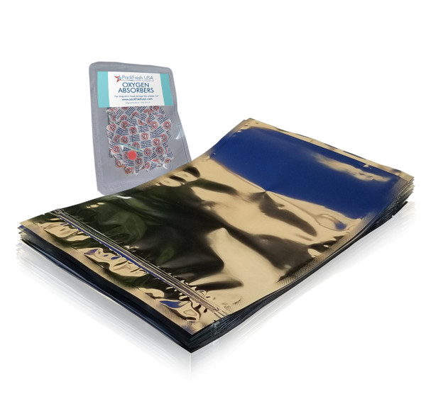 Gallon Seal Top Mylar Bags with Oxygen Absorbers