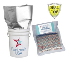 5 Gallon 7 MIL Heavy Duty Seal Top Mylar Bags Set