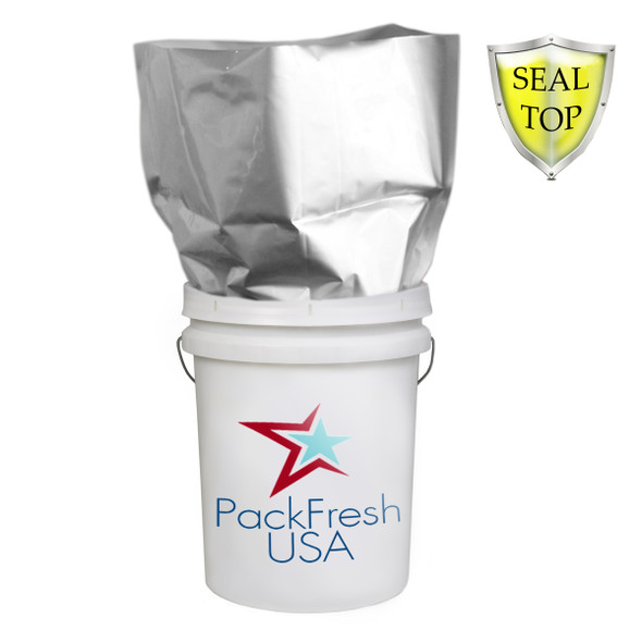 5 Gallon 7 Mil Premium HD Seal Top Mylar Bags