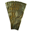 Gold Clear with silver back freezer pop bags