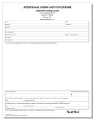 Additional Work Authorization Form