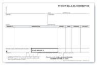 Freight Bill of Lading Combo