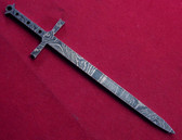 Alabama Damascus Sword Mini Blank / ADS-Mini Sword-DKB