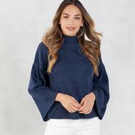 Mud Pie Willa Turtleneck Sweater - NAVY
