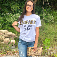 Leopard Is My Favorite Color Tee