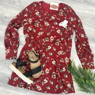 Forgotten Story Dress - BURGUNDY