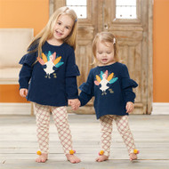 Mud Pie Navy Turkey Tunic & Legging Set