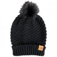 Simply Southern Knit Pom Beanie - BLACK