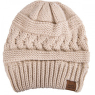 Simply Southern Sweater Knit Beanie - TAUPE