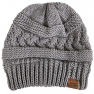 Simply Southern Sweater Knit Beanie - GREY