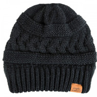 Simply Southern Sweater Knit Beanie - BLACK