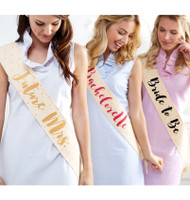 Mud Pie Wedding Sashes