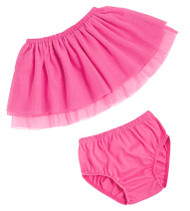 Mud Pie Pink Mesh Skirt & Bloomers