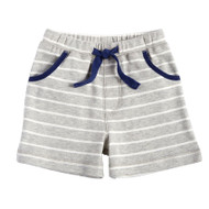 Mud Pie Striped Pull On Shorts - GREY
