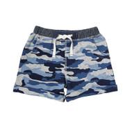 Mud Pie Camo Pull On Shorts - BLUE