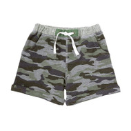 Mud Pie Camo Pull On Shorts - GREEN