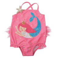 Mud Pie Pink Tulle Mermaid Princess Swimsuit